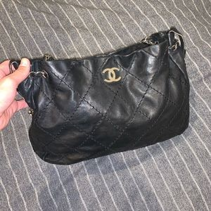 Black Quilted Chanel Shoulder Bag Purse
